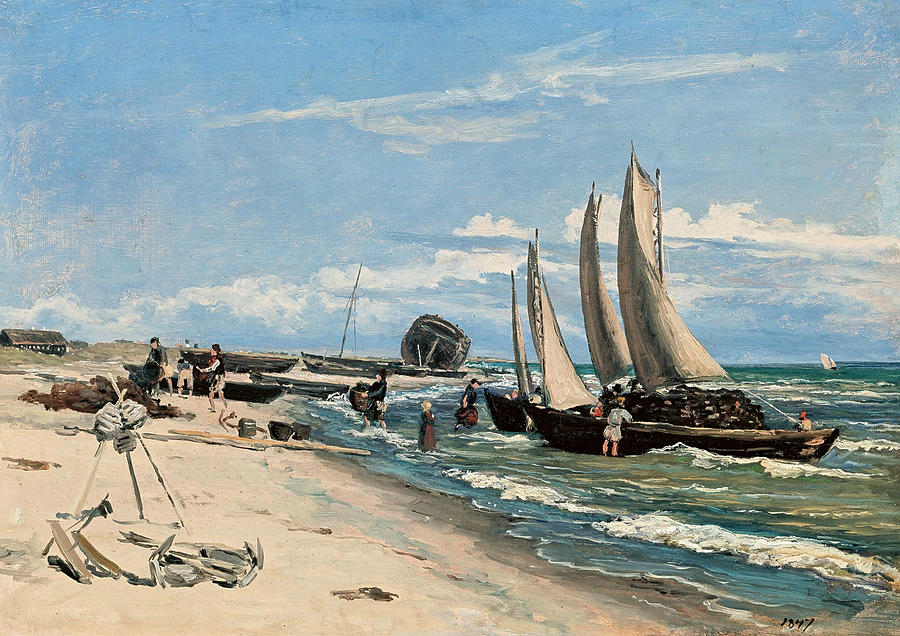 The Beach at Skagen Vesterby by Martinus Rorbye