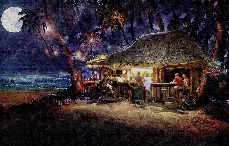 Illustration Painting - The Beach Bar by Murray Henderson Fine Art