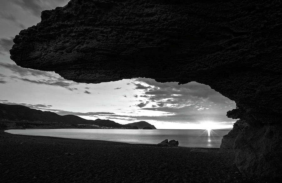 The beach of the sculptures at dawn, Almeria by Vicen Photography