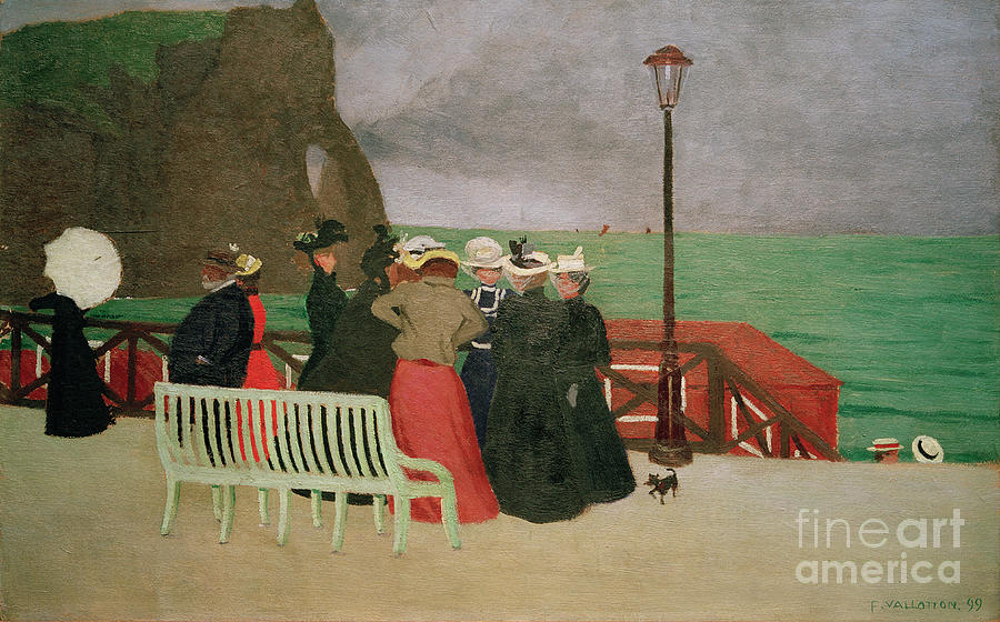 The beach promenade in Etretat by Felix Vallotton