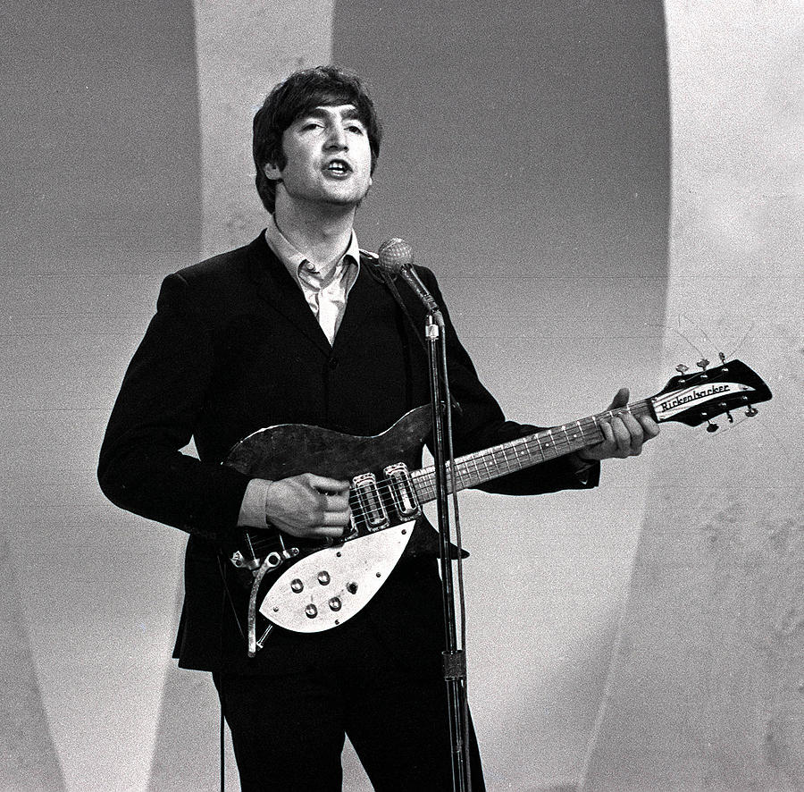 Music Photograph - The Beatles 1964 Us Tour. John Lennon by Popperfoto