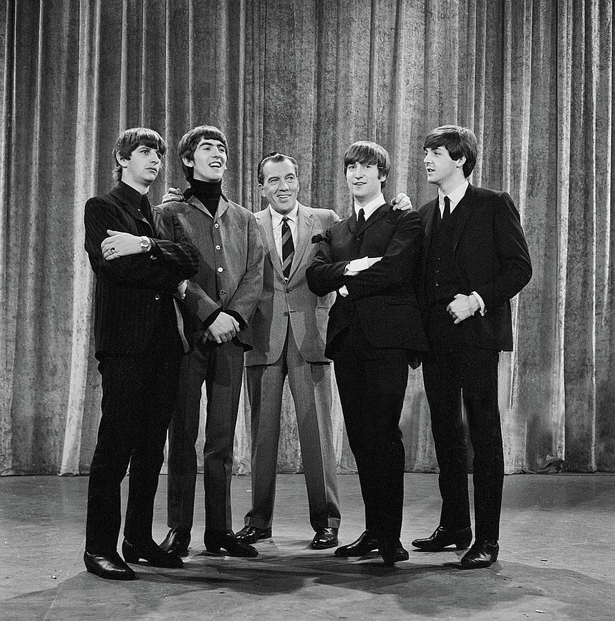 The Beatles Photograph - the beatles and ed sullivan - February, 1964 by Mountain Dreams