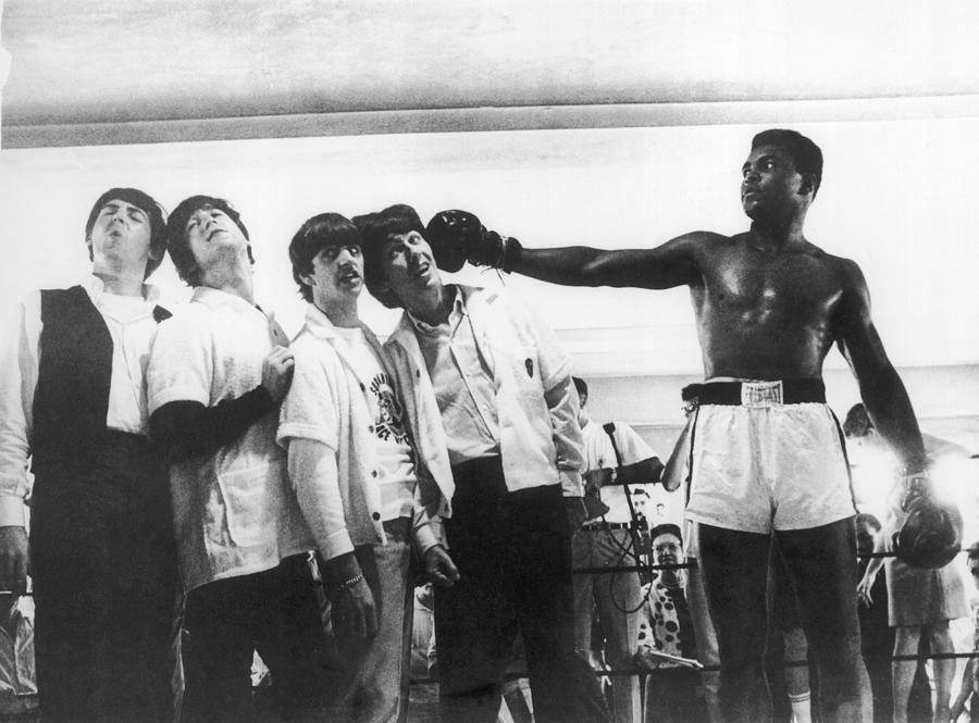 The Beatles And Muhammad Ali In 1964 Photograph by Keystone-france
