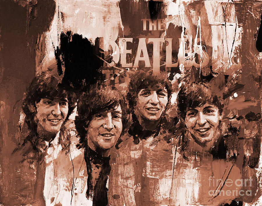 Beatles Painting - The Beatles Art  by Gull G