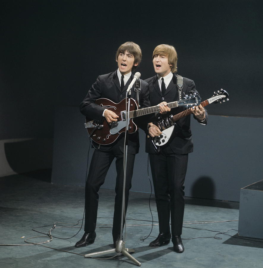Singer Photograph - The Beatles Perform On Shindig by David Redfern