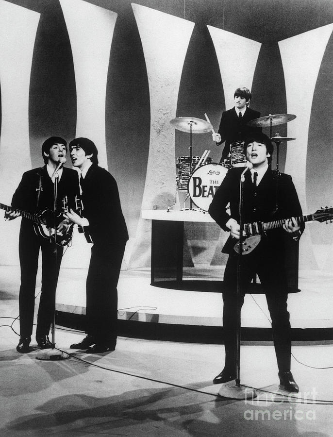 The Beatles Performing On The Ed Photograph by Bettmann