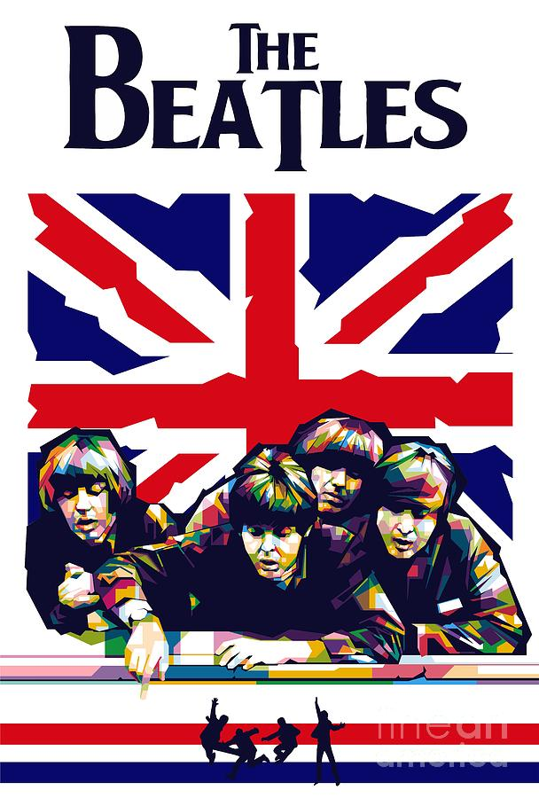 The Beatles Poster Painting by Bagas Fa