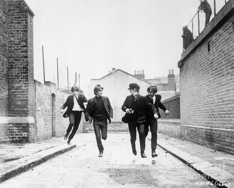 The Beatles Running In A Hard Days Night Photograph by Bettmann