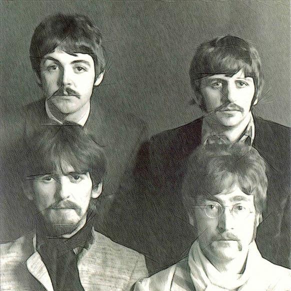 Beatles Drawing - The Beatles - Sketch by Ericamaxine Price