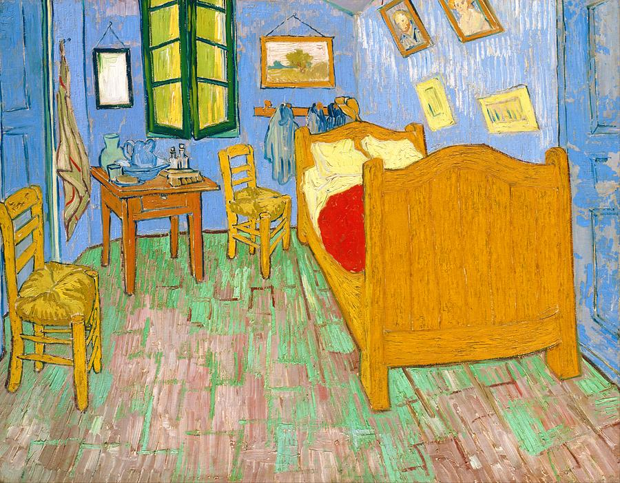 Vincent Van Gogh Painting - The Bedroom At Arles - Digital Remastered Edition by Vincent van Gogh