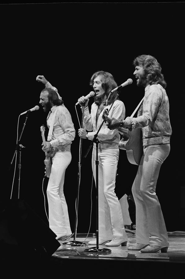 The Bee Gees Perform Live Photograph by Richard Mccaffrey