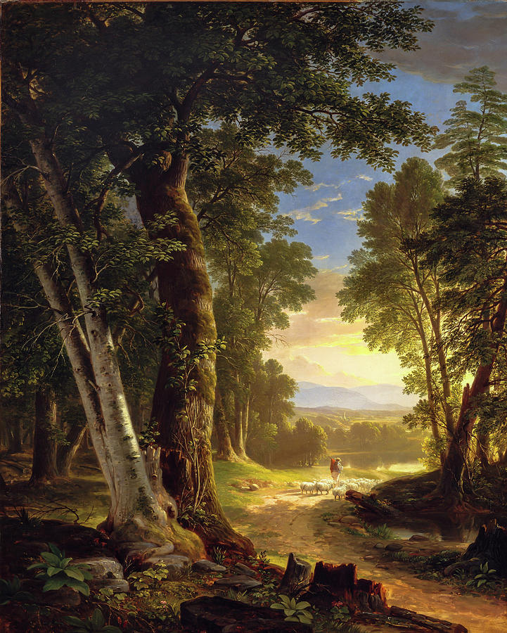 The Beeches                                                   by Asher Brown Durand