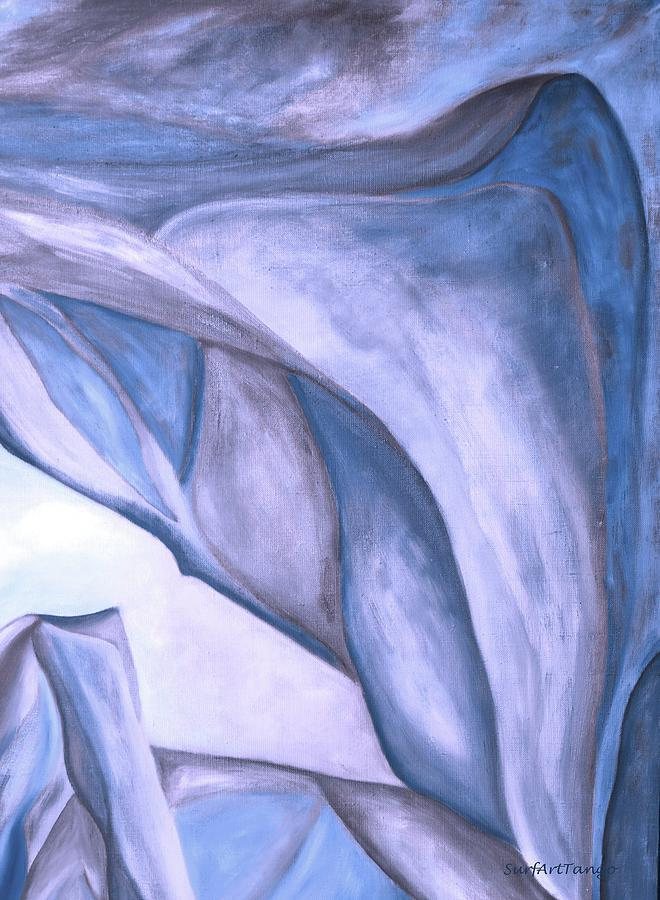 The Beginning. Blue nacre. Fragment 3. Colorful and over 30 Monochromatic. by SurfArtTango Marina Lisovaya