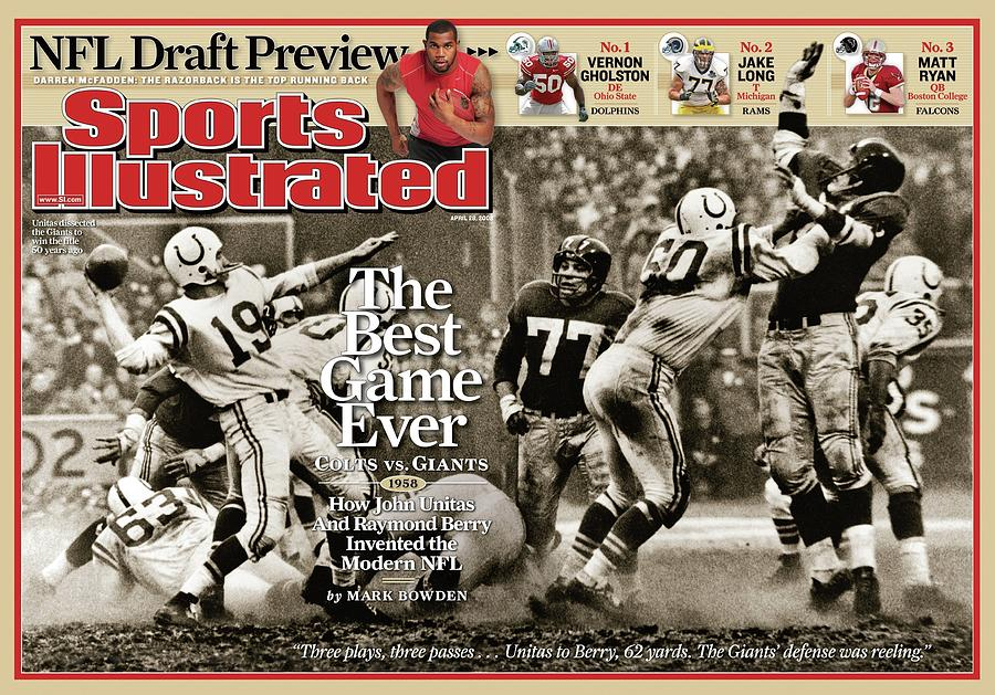 The Best Game Ever 1958 Colts Vs. Giants Sports Illustrated Cover Photograph by Sports Illustrated
