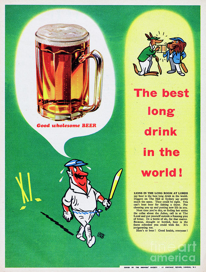 The Best Long Drink In The World Photograph by Picture Post