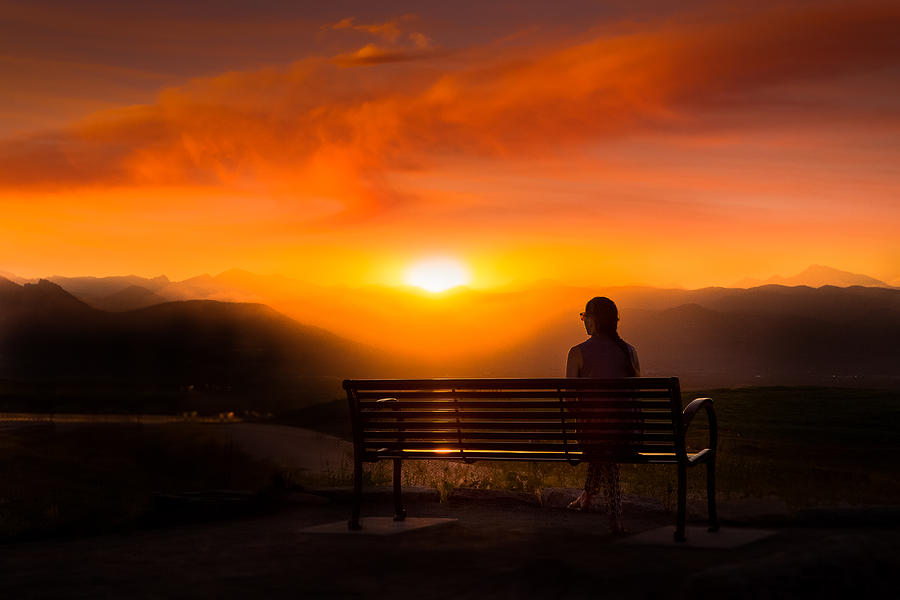 Sunset Photograph - The Best View by Like He