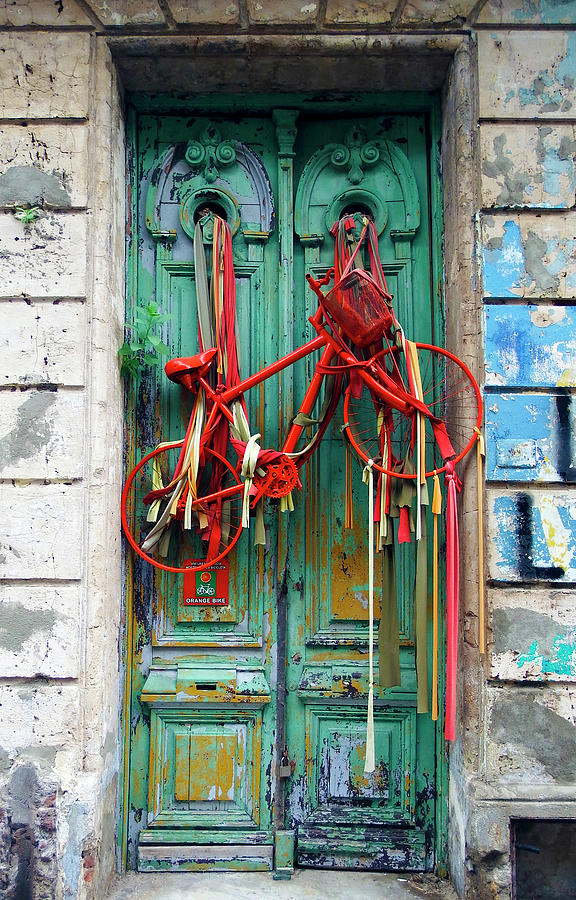 The Bicycle Door, Montevideo, Uruguay by Kurt Van Wagner