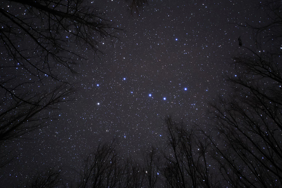 Horizontal Photograph - The Big Dipper, Also Known As Ursa by Jeff Dai