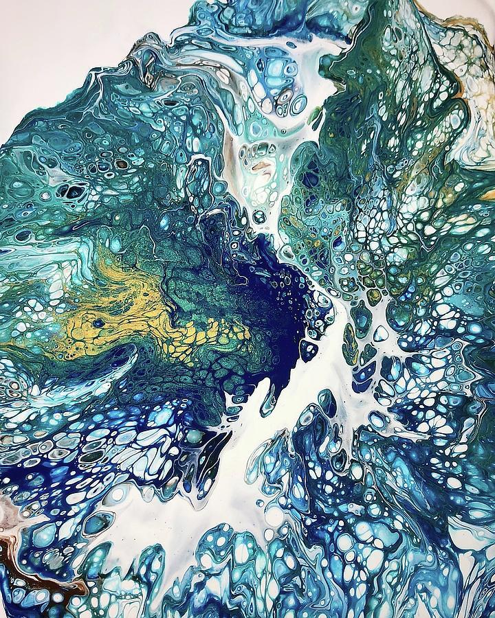 Acrylic Painting - The Big Splash by Teresa Wilson by Teresa Wilson