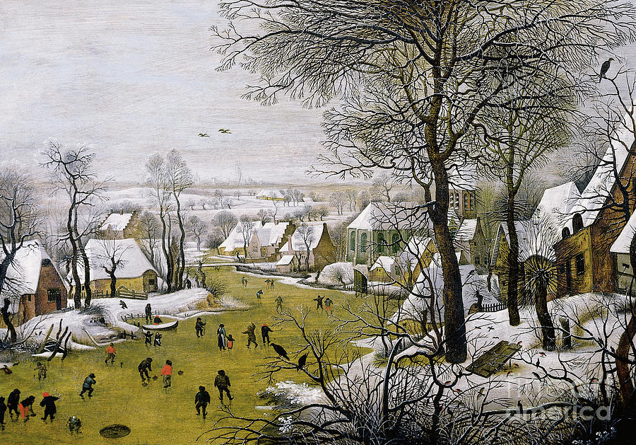 Brueghel Painting - The Bird Trap  by Pieter the Younger Brueghel