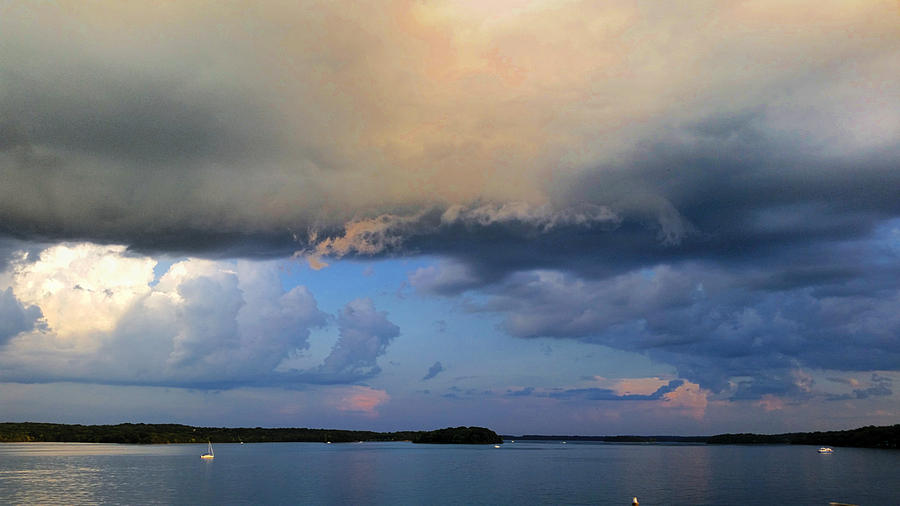 The Birth Of A Sunset Thunderstorm Photograph