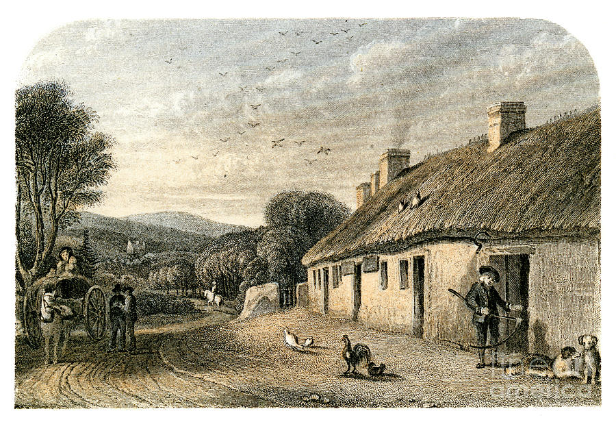 The Birthplace Of Robert Burns Drawing by Print Collector