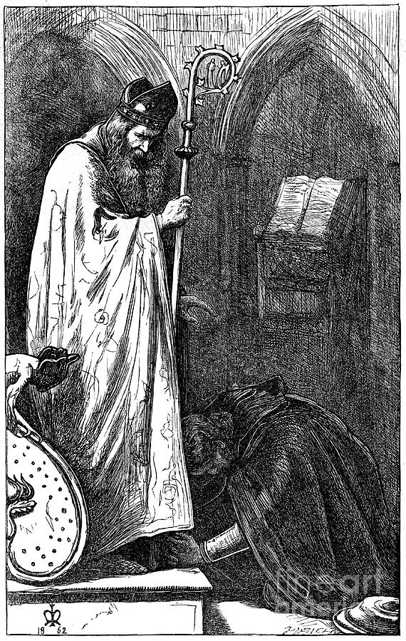 The Bishop And The Knight, 1862. Artist Drawing by Print Collector