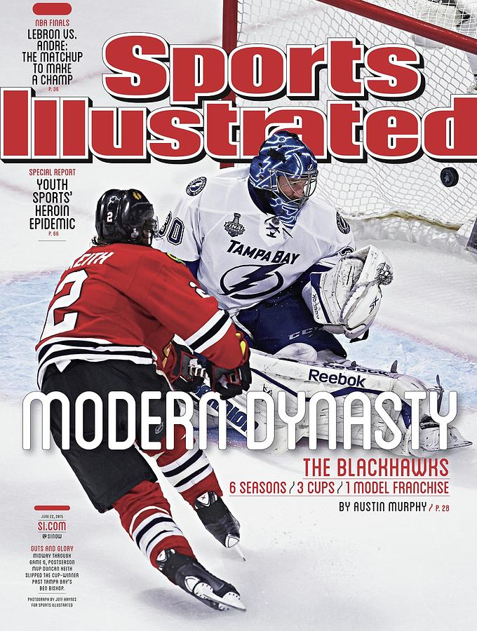 The Blackhawks, Modern Dynasty 6 Seasons, 3 Cups, 1 Model Sports Illustrated Cover Photograph by Sports Illustrated