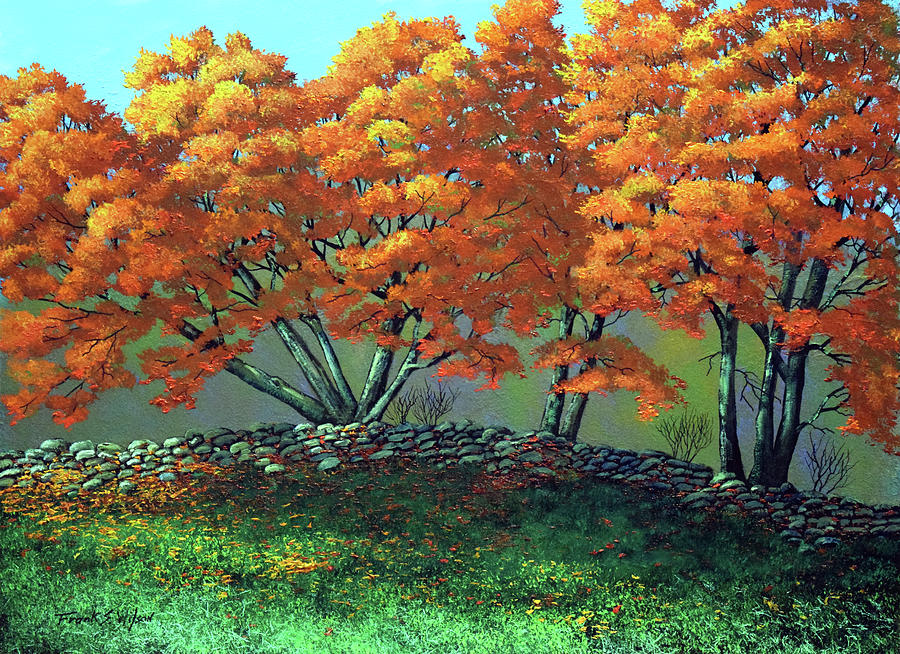 The Blaze Of Autumn Painting