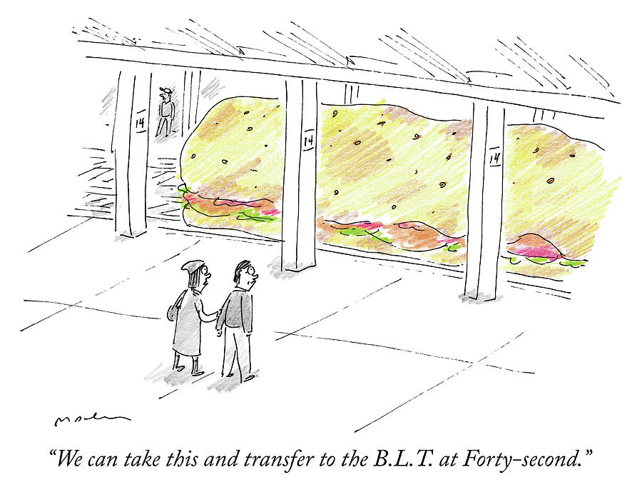 The BLT at Forty Second Drawing by Michael Maslin