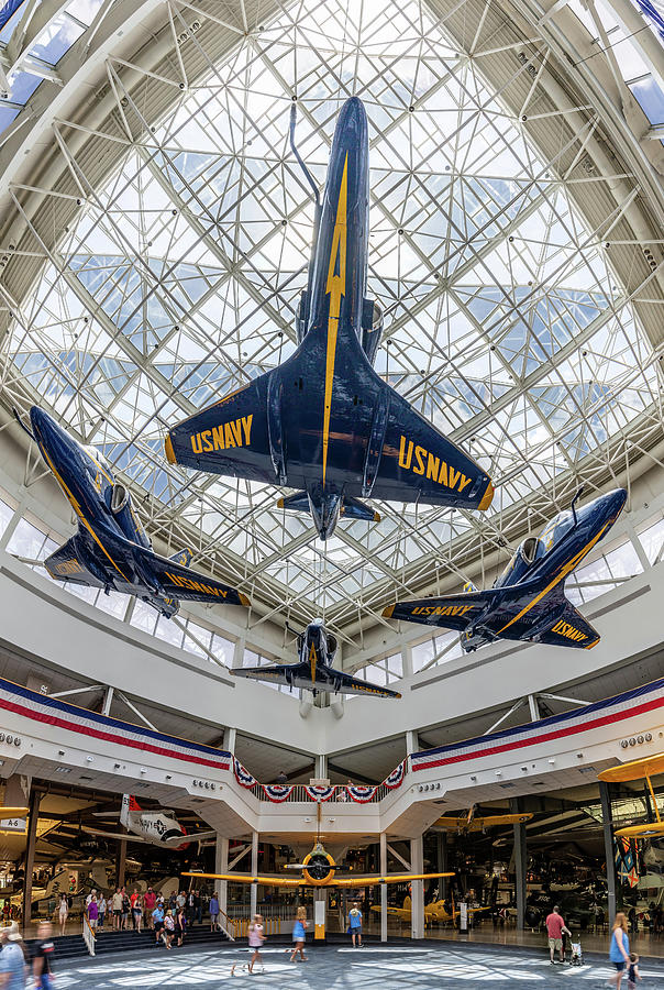 The Blue Angels Atrium at the National Naval Aviation Museum by Tim Stanley