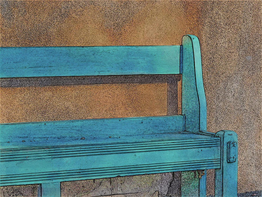 The Blue Bench by Western Light Graphics