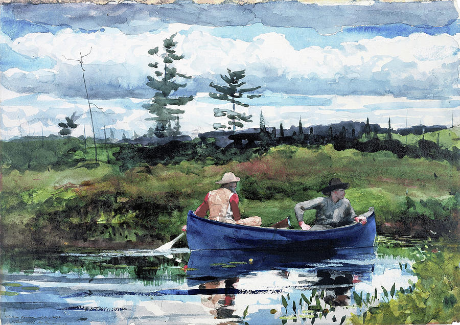 Winslow Homer Painting - The Blue Boat - Digital Remastered Edition by Winslow Homer