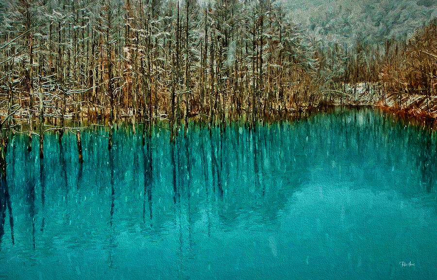 The Blue Pond on Biel River by Russ Harris