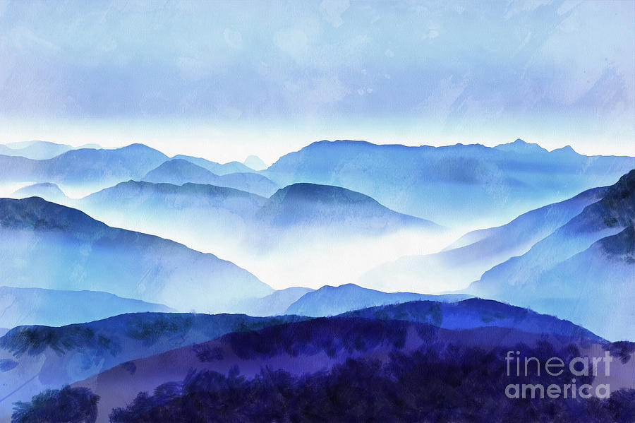 The Blue Ridge Mountain 2 Painting by Edward Fielding