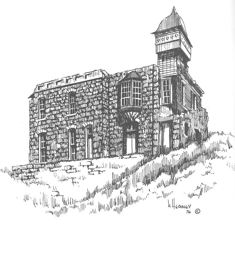 Helena Drawing - The Blue Stone House Helena Montana by Kevin Heaney