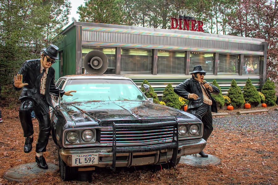 The Blues Brothers At A Diner by Kristia Adams