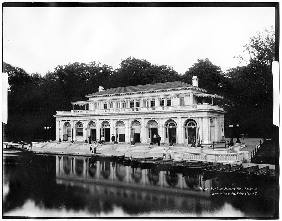 The Boathouse Photograph by The New York Historical Society