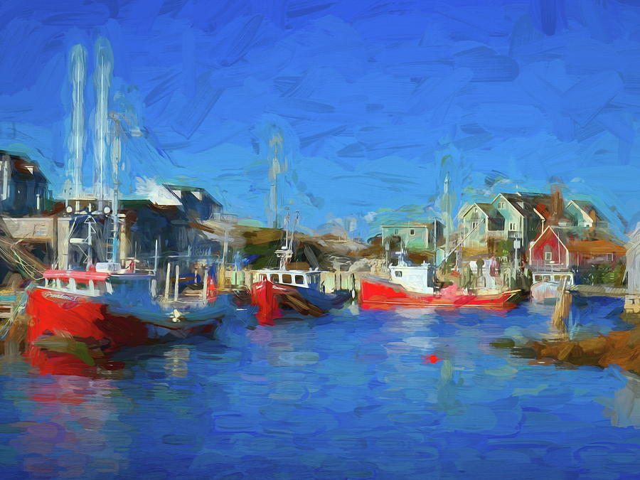 The Boats at Peggy's Cove by Tara Turner