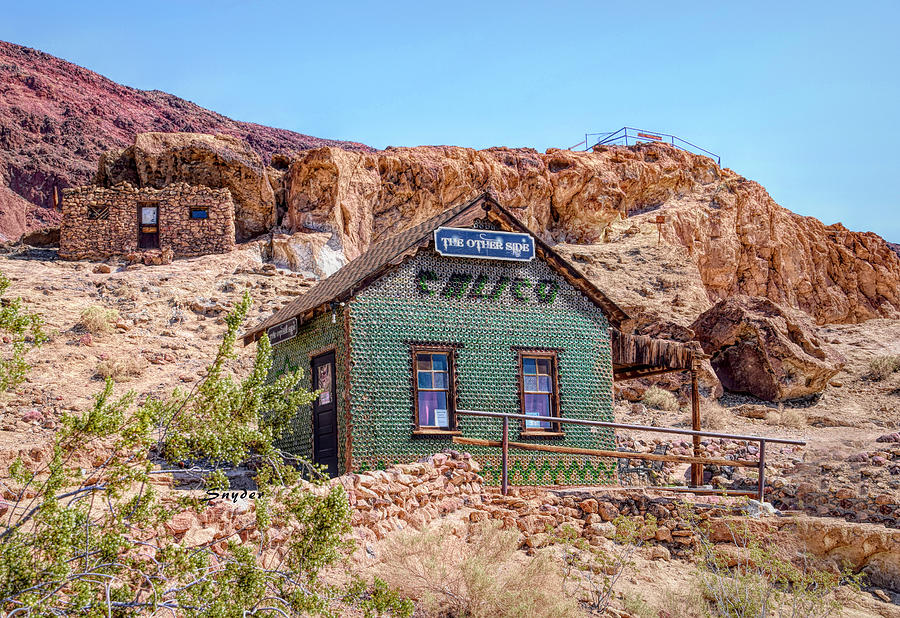 The Bottle House at Calico Ghost Town by Floyd Snyder