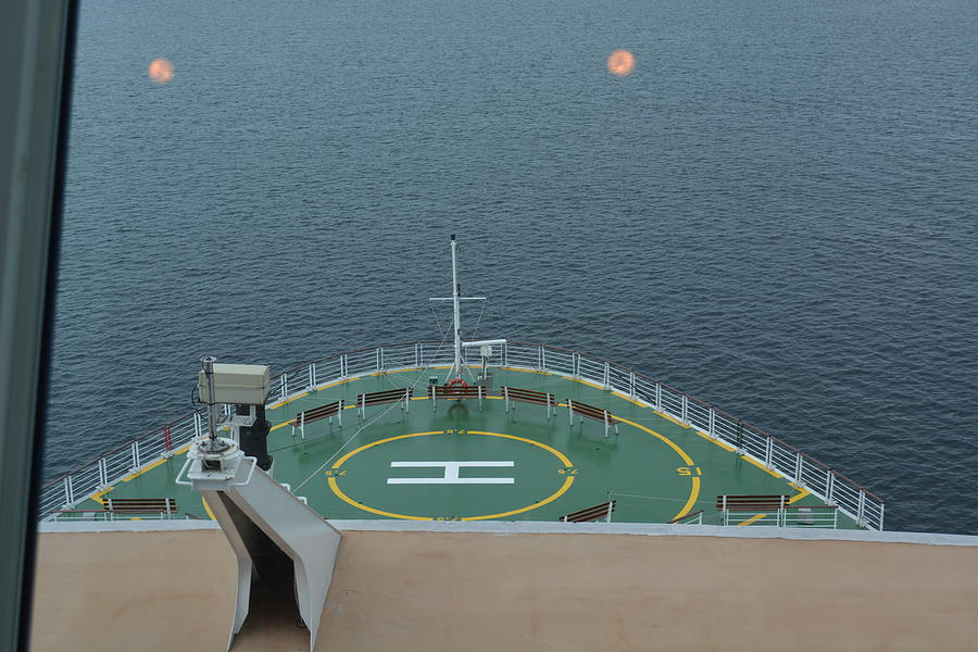 Alaska Photograph - The Bow Of Our Cruise Liner by Joe Smiga