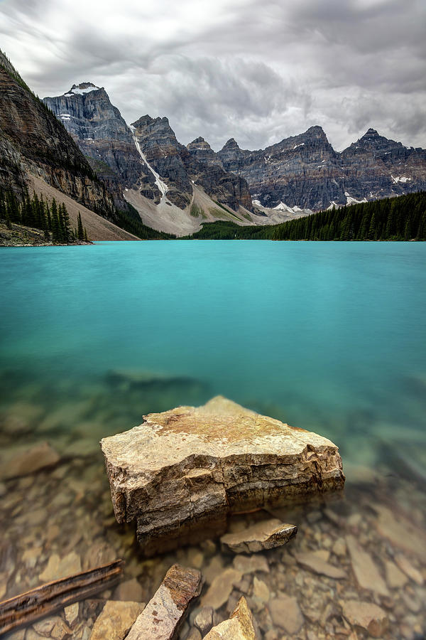 The Breathtaking View And Blue Water Of Moraine Lake Photograph By Pierre Leclerc Photography