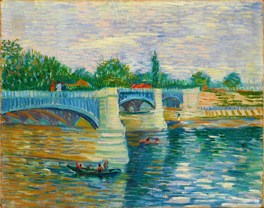 Vincent Van Gogh Painting - The Bridge At Courbevoie - Digital Remastered Edition by Vincent van Gogh