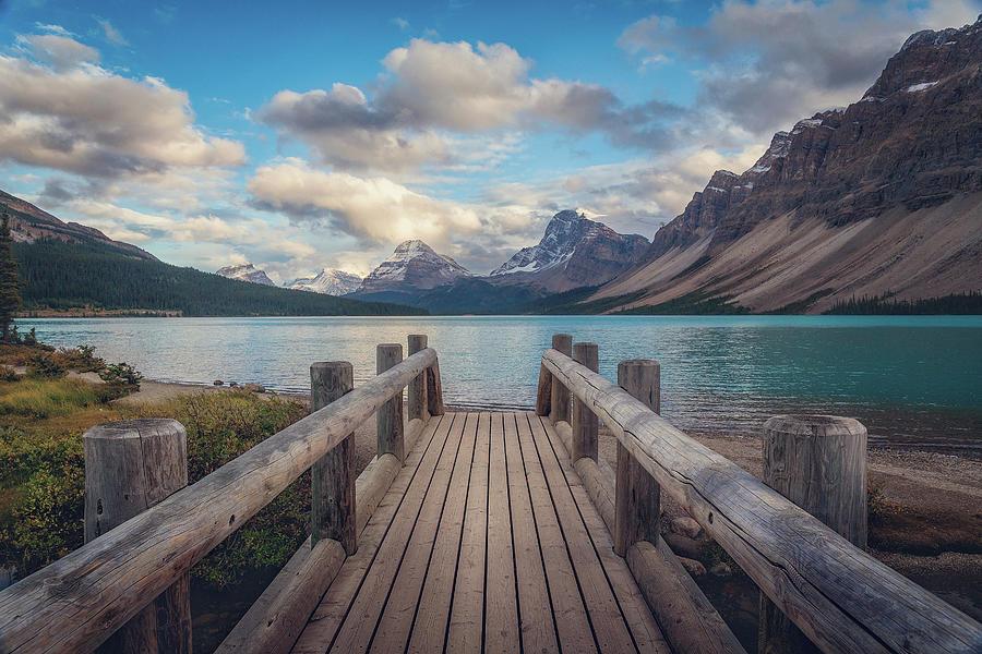 Lake Photograph - The Bridge by Iván Macía