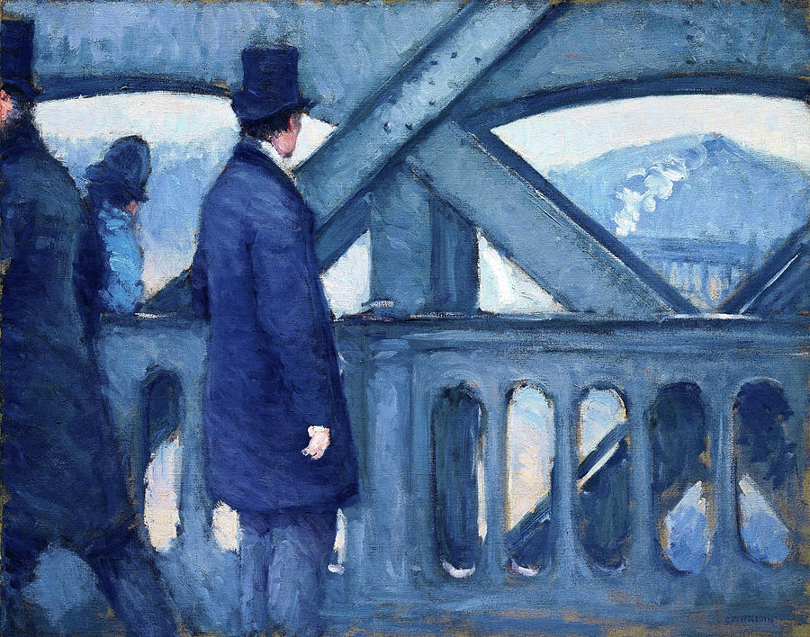 Gustave Caillebotte Painting - The Bridge Of Europe, Sketch - Digital Remastered Edition by Gustave Caillebotte