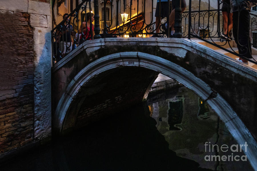 The bridges of Venice at night by Marina Usmanskaya