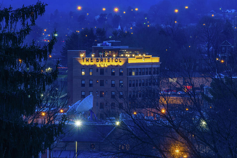 The Bristol Hotel And Surroundings In The Blue Hour Photograph