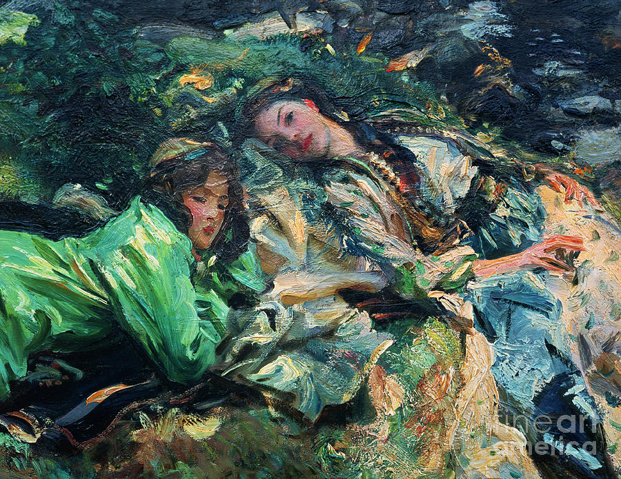 The Brook Painting - The Brook by John Singer Sargent