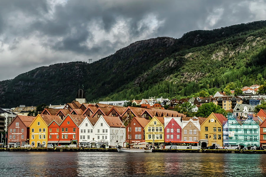 The Bryggen, a Norwegian World heritage site. by Sven Brogren