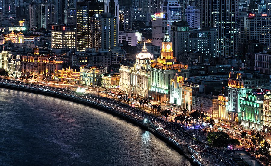 The Bund At Night Photograph by Hugociss